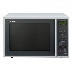 The large Sharp combination microwave with 900W power and 40 litre capacity.