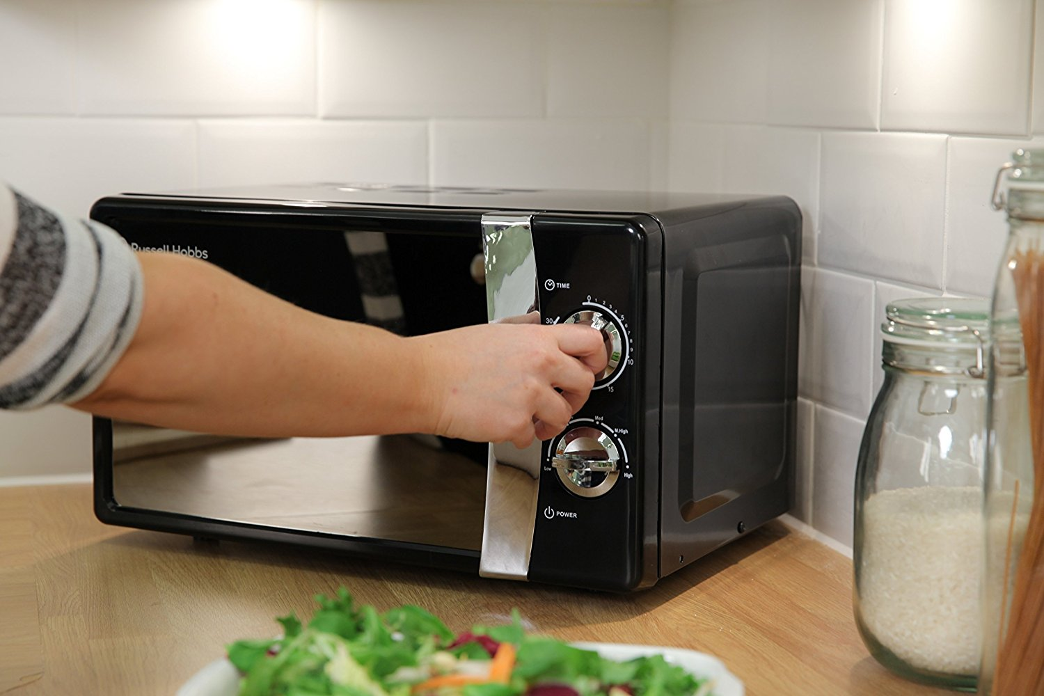 The RHMM701B is a manual microwave