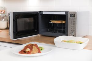 Grill microwave interior