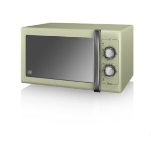 The Swan SM22070GN retro microwave