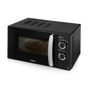 The Tower T24009 manual microwave with pull handle